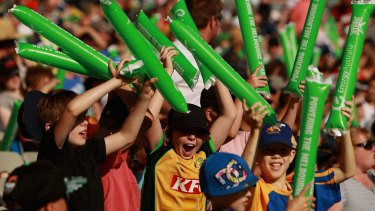 Turning up the volume: Fans show their support during a Big Bash League match between the Melbourne Stars and the Melbourne Renegades.