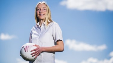 Huge potential: Canberra United striker Nickoletta Flannery, 16, has been compared to Matildas livewire and Canberra teammate Ashleigh Sykes.