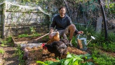 Joe Hallenstein has been consuming food from his backyard urban vegie garden for more than six years.