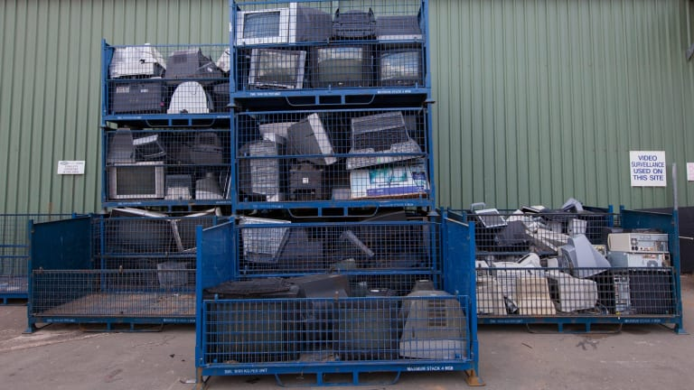 E-waste is a growing problem.