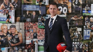 Blues print: Brendon Bolton has a plan for success at Carlton.