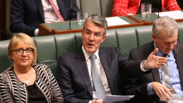 Shadow attorney-general Mark Dreyfus did not deny he threatened to resign.