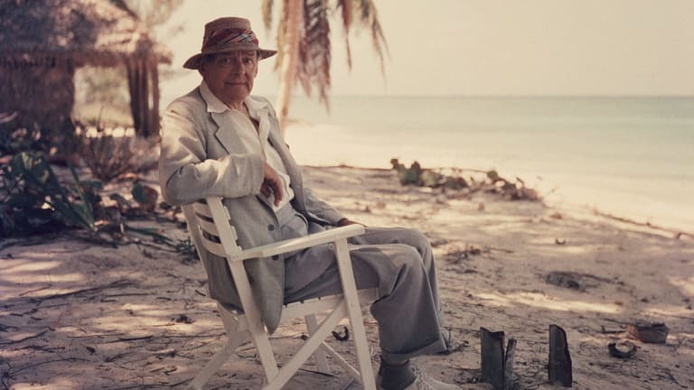 T.S. Eliot in the Bahamas in 1957. Even in his later years, he recalled with pained awkwardness a crucial meeting decades earlier with Emily Hale.