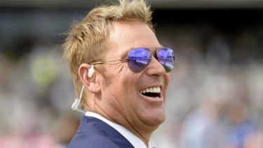 Two cents' worth: Shane Warne said the public were entitled to boo Adam Goodes.