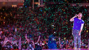Coldplay playing at Suncorp Stadium in December.
