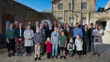 Some of the community investors in the Old Beechworth Gaol.