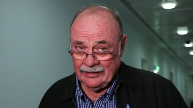 Warren Entsch at Parliament House in Canberra on Monday.