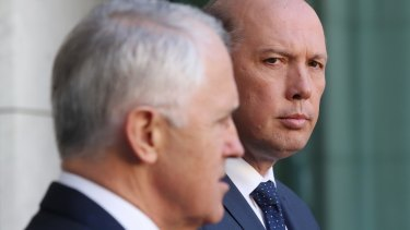 Senior minister Peter Dutton has assured jaded Liberal voters that both he and fellow leading conservative Mathias Cormann are key parts of Malcolm Turnbull's inner circle.