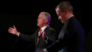 Prime Minister Malcolm Turnbull and Opposition Leader Bill Shorten.