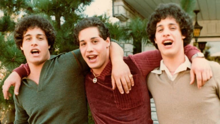 From left, Eddy Galland, David Kellman and Bobby Shafran, triplets who learned at age 19 that they had been separated at birth.