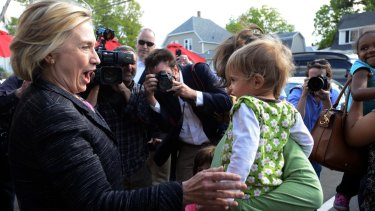 Hillary Clinton on her second visit to New Hampshire since announcing her candidacy.