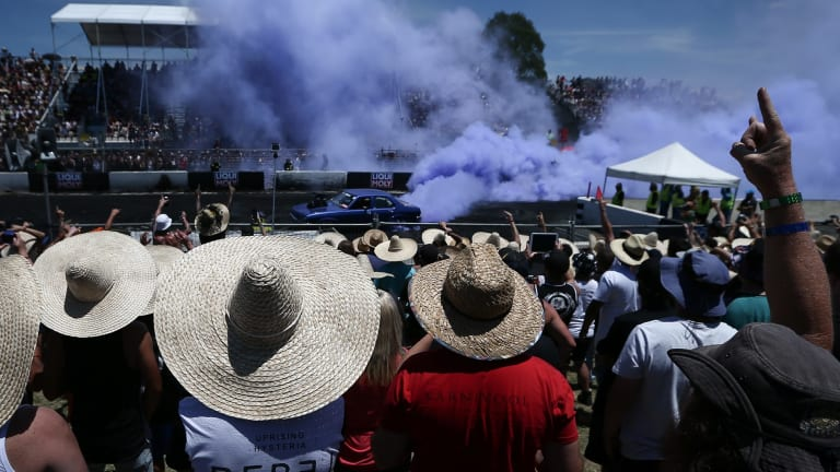 Hats on: With temperatures predict to soar into the mid 30s, Weatherzone meteorologist Brett Dutschke urged festival goers to be sun safe.