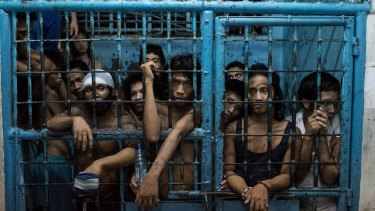 Prison inmates in the Philippines, a country preparing to reintroduce capital punishment.
