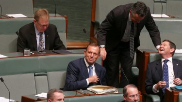 Mr Chester handed Tony Abbott a Nationals membership form.