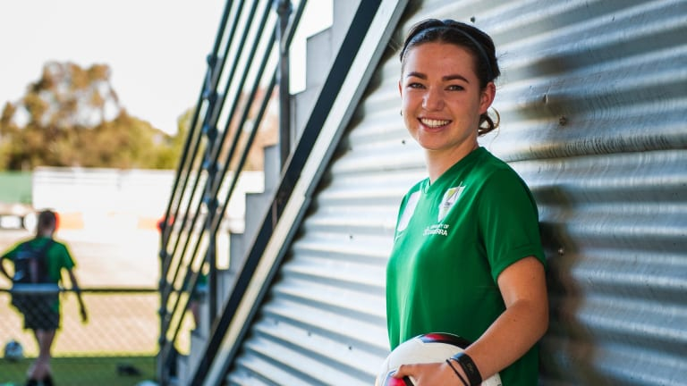 Grace Maher, 17, has been picked in the Matildas squad.