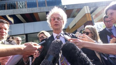 Brunswick resident Anthony Murphy leaves the High Court on Monday.