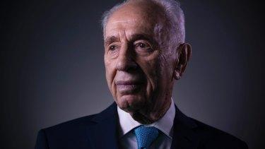 The late former Israeli President Shimon Peres in February.