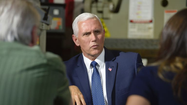 Vice-President Mike Pence on a visit to California last week to raise money for endangered Republican congressional candidates.