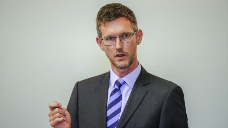Main Roads Minister Mark Bailey said it was time for Brisbane City Council's public transport boss Adrian Schrinner to get serious about on road CBD bike lanes.