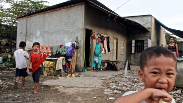 Daily life in the Steung Meanchey district of Phnom Penh in 2013.