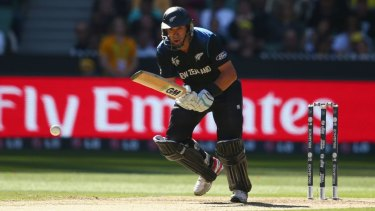Master batsman: Ross Taylor sets off for a run during the World Cup final against Australia at the MCG in March.