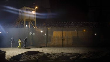 'There was always the potential that detainees would become more radical': Camp Bucca in 2008.