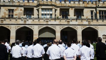 NSW Police and emergency services workers who assisted during the Lindt Cafe siege gathered at NSW Government House to be officially thanked on Friday.