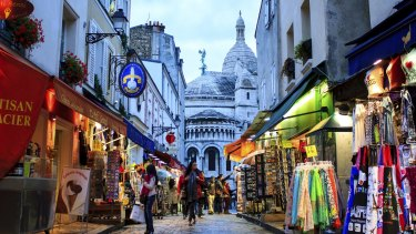 Tourists are thinner on the ground in Montmarte this summer.