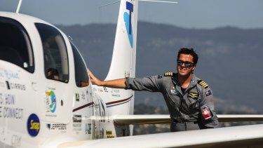Pilot Ryan Campbell is in a critical condition after the Tiger Moth he was flying crashed on the Gold Coast.