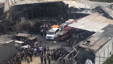The explosion and raging fire killed more than 40 people and injured dozens, police said.