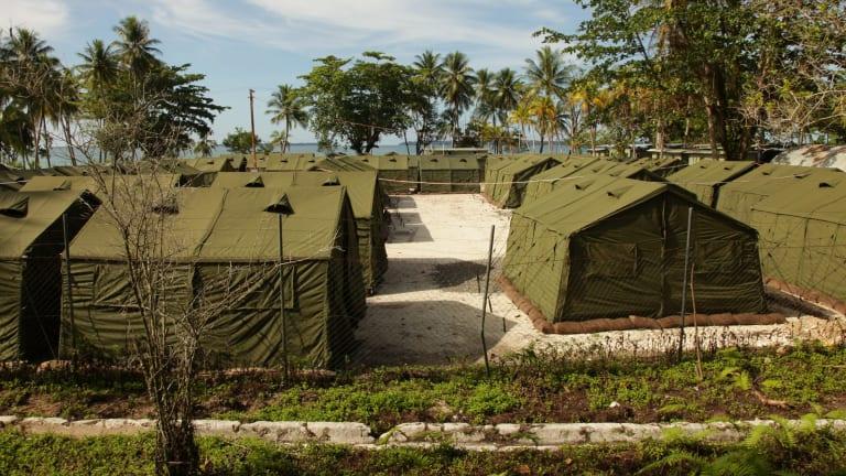 Asylum seeker facilities on Manus Island.