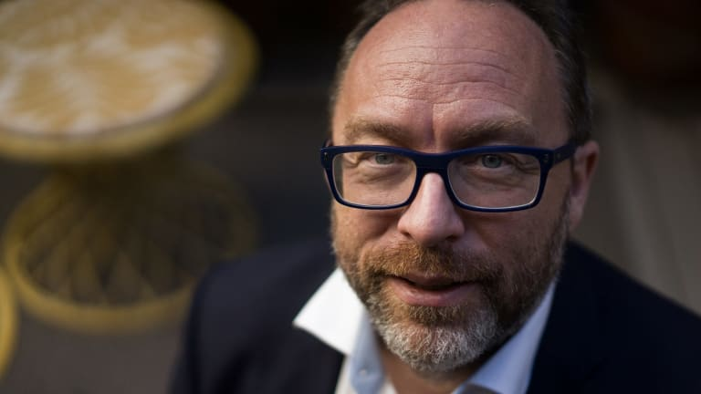 Jimmy Wales, co-founder of Wikipedia.