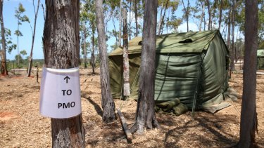 The Prime Minister's campsite on the Gove Peninsula.