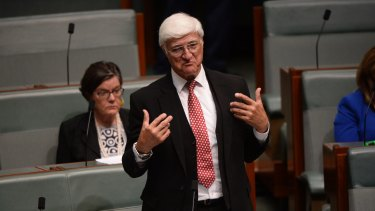 Independent MP Bob Katter in the House of Representatives on Wednesday.