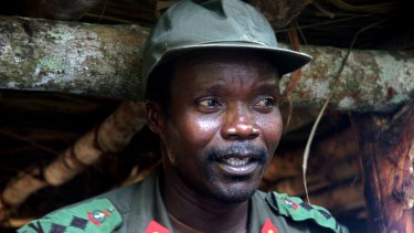 Joseph Kony, leader of the Lord's Resistance Army, in Congo in 2006.