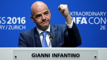 Elected: FIFA President Gianni Infantino is now in charge of the world's most popular sport.