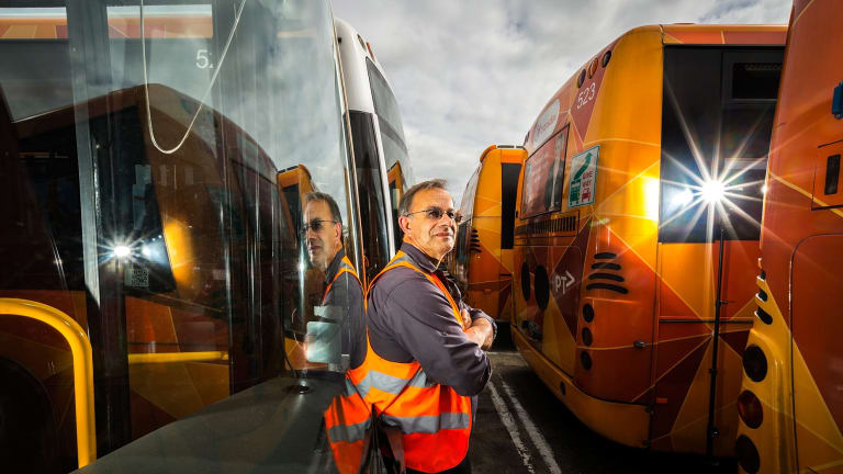 Unless buses are given priority on Melbourne's roads, drivers like Charles Lablache can do little to ensure a reliable and regular service.