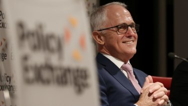 Prime Minister Malcolm Turnbull delivered a rebuke to Coalition conservatives during his trip to London.