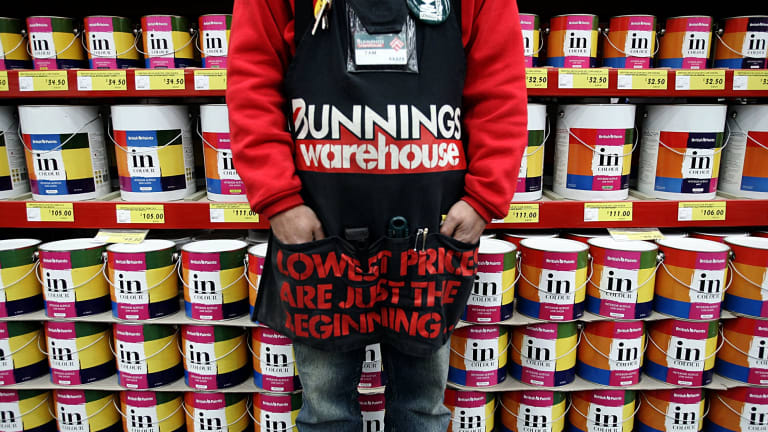 Hardware leader Bunnings has again been the mainstay of Wesfarmers' earnings.