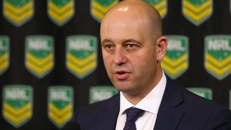 Dispute: NRL CEO Todd Greenberg. The NRL initially said there would be no strings attached to an extra $100 million worth of funding.