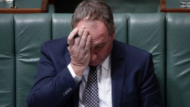 Barnaby Joyce in Question Time a moment ago.