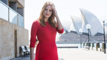 Jessica Chastain, Golden Globe winning actress (Zero Dark Thirty, The Help) and Academy Award nominee in Sydney to promote her new film Molly's Game.