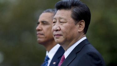 Chinese President Xi Jinping with US President Barack Obama during the US visit.