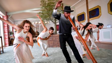 Dance and indigenous music form part of the Australian-themed Emirates marquee.