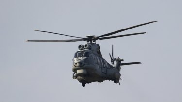 A Turkish Air Force AS-532AL Cougar helicopter takes off from Incirlik airbase in the southern city of Adana, Turkey on Monday.