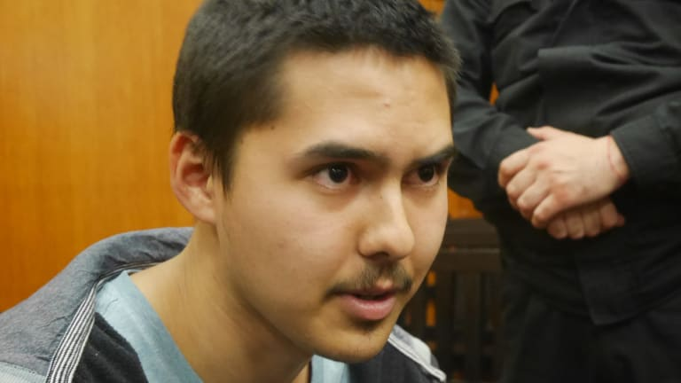 John Zakhariev, the 21 year-old former Sydney schoolboy, in court in Bulgaria.