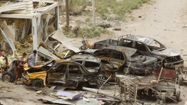 More than 100 people were killed in the suicide bombing of the mainly Shiite town of Khan Bani Saad.