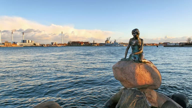 Copenhagen's Little Mermaid statue by Edvard Eriksen.