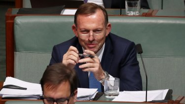 """Tony Abbott says it would be """"unconscionable"""" for the government to support a clean energy target."""