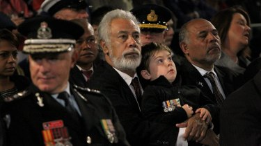 Former East Timorese president and prime minister Xanana Gusmao at the ANZAC Day dawn service in Martin Place, Sydney, last year.